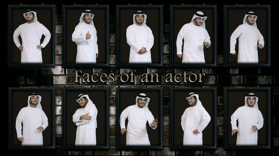Faces of an actor